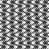 无缝的抽象V形臂章瓦片在黑白背景中 免版税库存图片