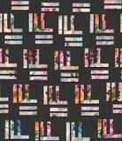 无缝的摘要几何五颜六色的样式 向量例证