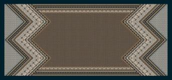 无缝的摘要几何传统波浪背景 皇族释放例证