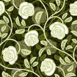 无缝的摘要玫瑰白色背景 免版税库存图片