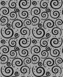 无缝的摘要黑色灰色样式 库存例证