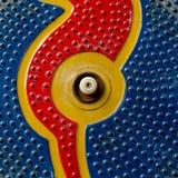 无缝的摘要p的深蓝,橙色和红颜色 免版税库存照片