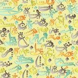 无缝的文本回教社区日的Eid穆巴拉克概念样式装饰品阿拉伯书法  向量例证