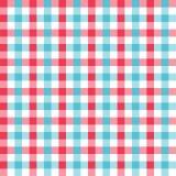 无缝的方格花布样式 库存例证