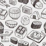 无缝的日本寿司样式 库存照片