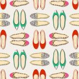 无缝的时尚穿上鞋子样式 免版税库存照片