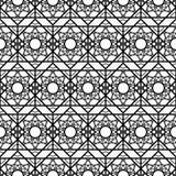 无缝的星形状艺术样式背景 皇族释放例证