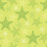 无缝的星绿色背景摘要样式1 库存照片