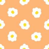 无缝的春黄菊花卉样式 库存照片