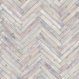 无缝的木木条地板纹理人字形白色 库存图片
