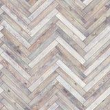 无缝的木木条地板纹理人字形白色 免版税库存图片