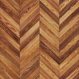 无缝的木木条地板纹理V形臂章褐色 图库摄影