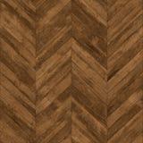 无缝的木条地板V形臂章黑褐色 图库摄影