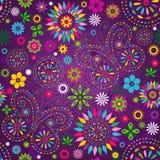 无缝的杂色的紫罗兰色样式 免版税库存图片