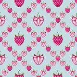 无缝的果子导航样式,明亮的几何背景用莓 库存照片