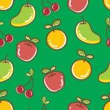 无缝的果子样式,苹果橙色爽快芒果 库存图片