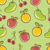 无缝的果子样式,苹果橙色爽快芒果 免版税库存图片