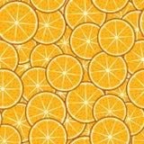 无缝的果子样式:橙色切片 向量例证