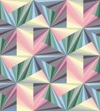 无缝的柔和的淡色彩色的多角形样式 几何抽象的背景 适用于纺织品,织品,包装和网络设计 免版税图库摄影