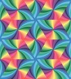 无缝的柔和的淡色彩色的波浪三角样式 几何抽象的背景 库存图片