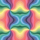 无缝的柔和的淡色彩色的波浪条纹样式 几何抽象的背景 库存照片