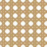 无缝的柳条被编织的纹理背景 库存例证