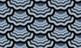 无缝的标度波浪样式 免版税库存照片