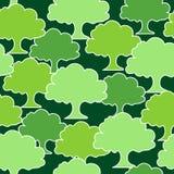 无缝的树样式 库存图片