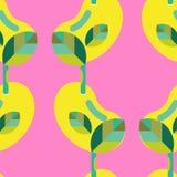 无缝的树苗样式 向量例证