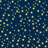 无缝的样式与繁星之夜 免版税图库摄影