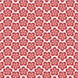无缝的样式中国背景,红色东方花传染媒介 库存例证