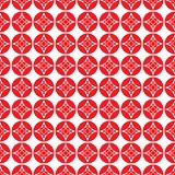 无缝的样式中国背景,红色抽象花传染媒介 皇族释放例证