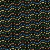 无缝的样式五颜六色的波浪 图库摄影
