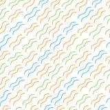 无缝的样式五颜六色的波浪 库存照片