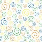 无缝的样式五颜六色的curlicues 免版税库存图片