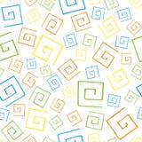 无缝的样式五颜六色的curlicues 图库摄影