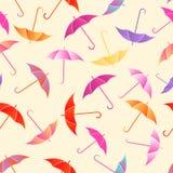 无缝的样式伞 库存照片