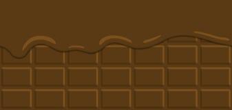 无缝的样式传染媒介例证 在巧克力块熔化的可可粉奶油 皇族释放例证