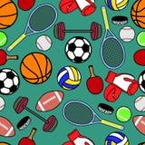 无缝的样式体育 免版税图库摄影