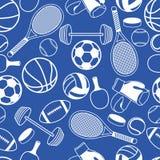 无缝的样式体育 免版税库存照片
