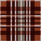 无缝的样式作为在棕色和灰色颜色的一种被编织的织品 库存图片