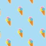 无缝的样式冰淇凌 库存图片