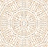 无缝的样式同心圆样式米黄白色 皇族释放例证