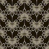 无缝的样式图表装饰品 花卉时髦的背景 再 免版税库存图片