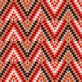 无缝的样式土耳其地毯米黄橙色褐色 补缀品马赛克东方人与传统民间几何装饰品的kilim地毯 向量例证