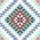 无缝的样式土耳其地毯蓝色白色灰色紫色褐色 与传统伙计g的五颜六色的补缀品马赛克东方人kilim地毯 库存例证
