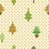 无缝的样式圣诞树 免版税库存图片