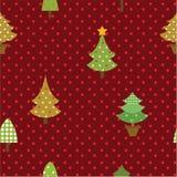 无缝的样式圣诞树 库存图片