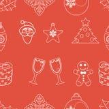 无缝的样式圣诞节传染媒介 免版税库存照片