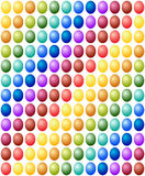 无缝的样式复活节彩蛋色谱背景 库存照片